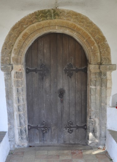 The norman door of Belchamp Otten Church