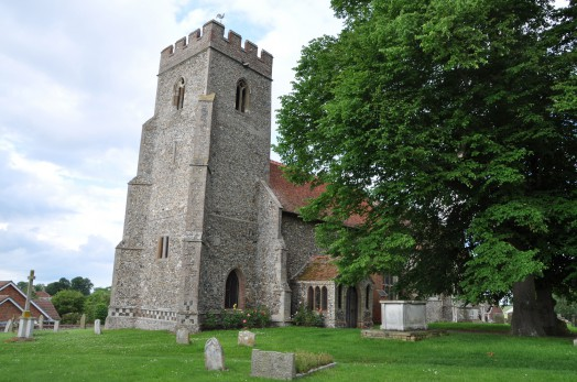 The tower of St Andrew's Church at Bulmer
