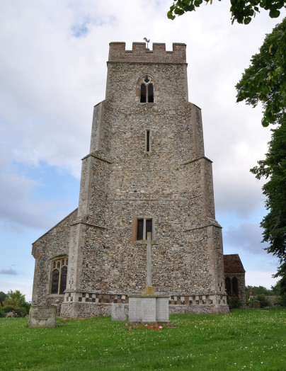 The tower at St Andrew's Church, Bulmer