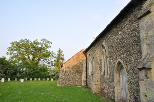 Walkers often rest at Great Henny church as it is located along St Edmunds Way