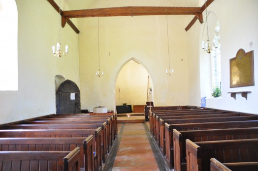 Inside the church of the Holy Innocents at Lamarsh