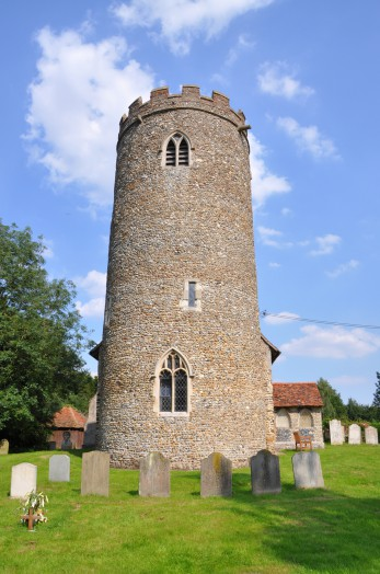 Pentlow Church's round tower, Essex