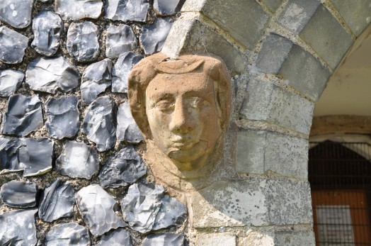 Detail of stone carving at Pentlow church